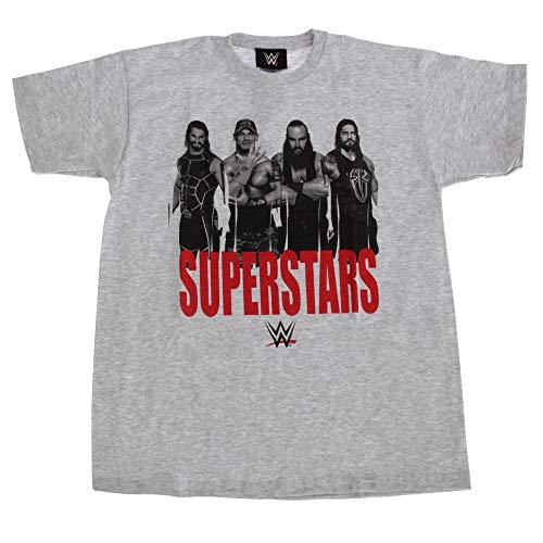 WWE Superstars Childrens Boys Wrestling T-Shirt (7-8 Years, Gray)]()