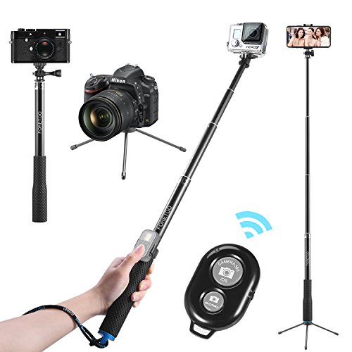 "Selfie Stick,Foretoo 36""Waterproof Hand Grip Adjustable Extension Tripod Pole for Mobile Phone/Nikon Camera/Gopro Hero Xiaomi Yi +Bluetooth Shutter Remote for iPhone X/8/8plus/7/7plus/ Samsung Galaxy"