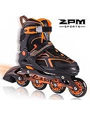 2PM SPORTS Torinx Orange/Red/Green Black Boys Adjustable Inline Skates, Fun Roller Blades for Kids, Beginner Roller Skates for Girls, Men and Ladies …