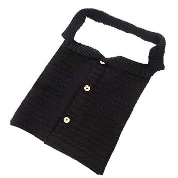Queta - Saco de Dormir para bebé (Tejido de Lana y Terciopelo) Negro Negro: Amazon.es: Informática
