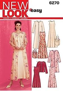 New Look Ladies Easy Sewing Pattern 6270 Dresses, Long & Short Jackets & Bag