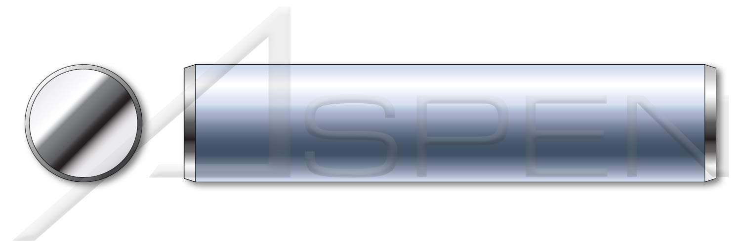 AISI 304 Stainless Steel 3//32 X 5//16 Solid Dowel Pins 18-8 50 pcs Aspen Fasteners