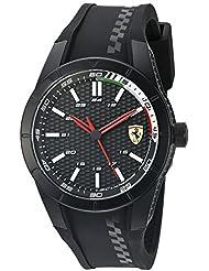 Ferrari Mens Redrev Quartz Black Casual Watch (Model: 0830301)