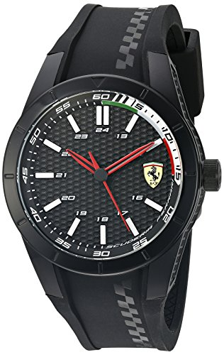 Ferrari Men's 'Redrev' Quartz Black Casual Watch (Model: 0830301)