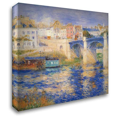 Bridge at Chatou 36x28 Gallery Wrapped Stretched Canvas Art by Renoir, Pierre-Auguste
