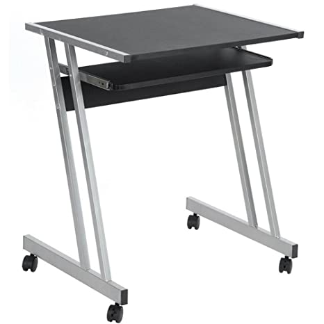 Bakaji Escritorio para Computer escritorio oficina porta pc Notebook Laptop mesa para ordenador con ruedas y
