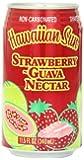 Hawaiian Sun Nectar, Strawberry-Guava, 11.5-Ounce (Pack of 24)