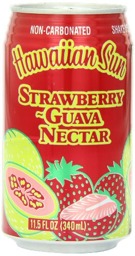 Hawaiian Sun Nectar, Strawberry-Guava, 11.5-Ounce (Pack of - Hawaiian Store