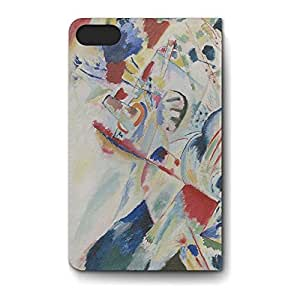 Leather Folio Phone Case For Apple iPhone 5C Leather Folio - Kandinsky Abstract Art Painting Stand Cover