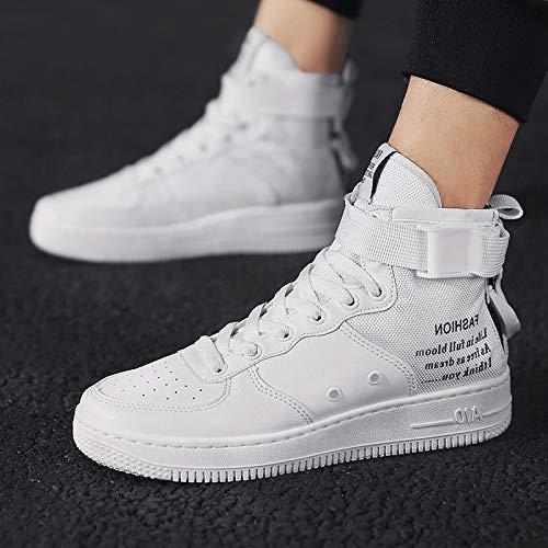 Homme Chaussures Blanc Unique Mode Hop Hip NANXIEHO Sport Chaussures Tendance Loisirs HWZ4qg