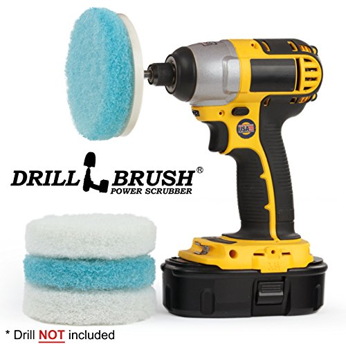 Drill Brush - Kitchen Accessories - Scrub Pads - Shower Cleaner - Bathtub - Bath Mat - Sink - Scrubber - Stove - Oven Rack - Cooktop - Frying Pan - Pots and Pans - Tile - Grout Cleaner - Flooring