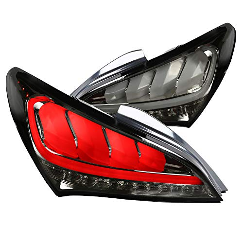 Coupe 2dr Brake - Smoke Fit Hyundai Genesis Coupe 2Dr Full LED Sequential Tail lights Brake Lamps