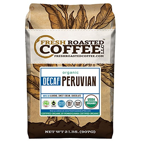 Peruvian Decaf Organic Tolerable Trade Coffee - SMBC, Whole Bean, Water Processed Decaf Coffee, Fresh Roasted Coffee LLC. (2 lb.)