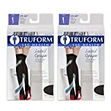 Truform Compression 20-30 mmHg Thigh High Stockings Black, Small, 2 Count