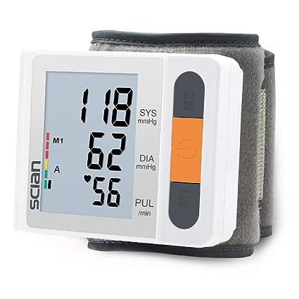 bakaji medidor de presión sanguínea Digital de pulsera tensiómetro Profesional Electrónico Automático con pantalla LCD y