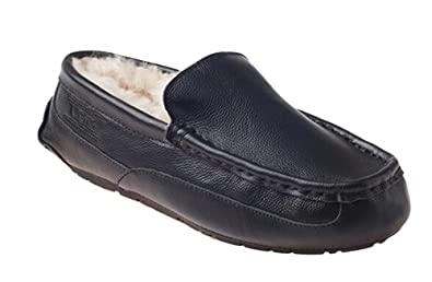 OZwear UGG Zapatos Comfort Peas para Hombres Mocasines Pisos Negrohombres AU 7M/EU 40/