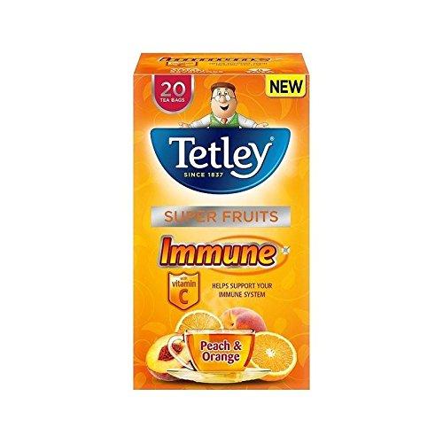 Tetley Super Fruit Tea Immune Peach & Orange 20 per pack