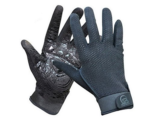 Outdoor Workout Rock Climbing Gloves Rope Eyelet Thick Non-slip Black