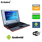 Netbook Laptop Android 4.2 HDMI écr.7 (Wifi-SD-MMC) 1GB RAM + 8GB ROM(Red)
