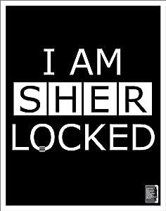 Culturenik I Am Sherlocked (Sherlock Holmes) British Crime Drama TV Television Show Poster Print 11x14
