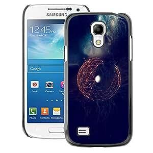 A-type Arte & diseño plástico duro Fundas Cover Cubre Hard Case Cover para Samsung Galaxy S4 Mini i9190 (NOT S4) (Earth Space Sci-Fi Futuristic Planet)