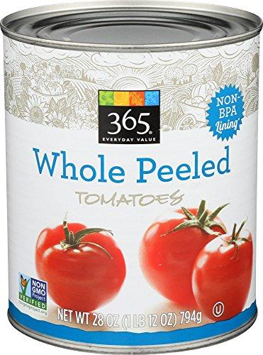 Whole Foods Tomatoes - 365 Everyday Value, Whole Peeled Tomatoes, 28 oz