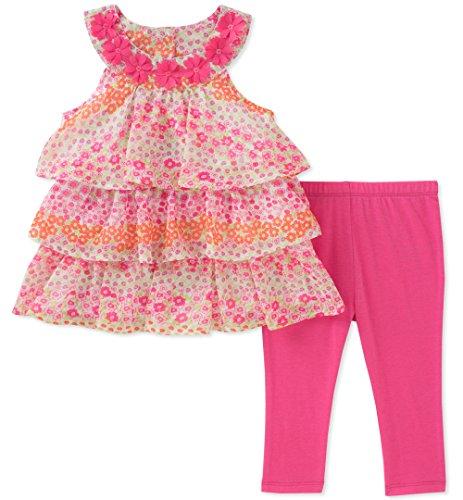 Kids Headquarters Little Girls' Tunic Set-Sleeveless, Hot Pink/Print, 6 by Kids Headquarters