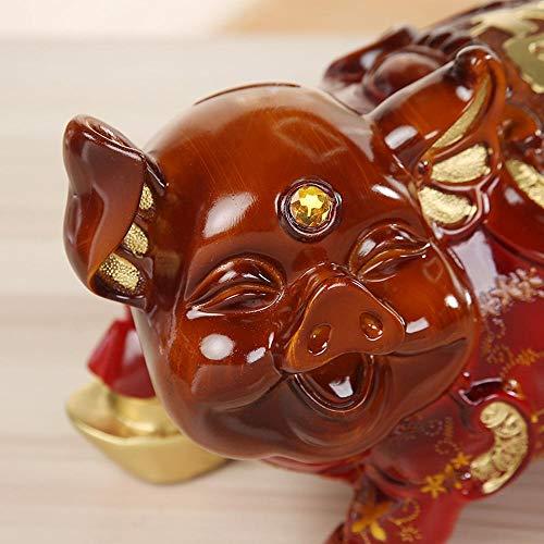 MAFYU Resin Retro red Green Pig Piggy Bank Ornaments by MAFYU (Image #1)