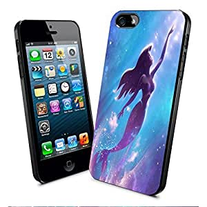 Disney Ariel Little Mermaid Art Iphone and Samsung Galaxy Case (iPhone 5/5s Black)