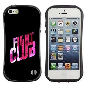 "Hypernova Slim Fit Dual Barniz Protector Caso Case Funda Para Apple iPhone SE / iPhone 5 / iPhone 5S [Fight Club Cita Slogan Pink Bling""]"