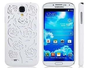 Cut-out diseño de Rose del caso plástico para Samsung Galaxy S4 / i9500 (blanco)