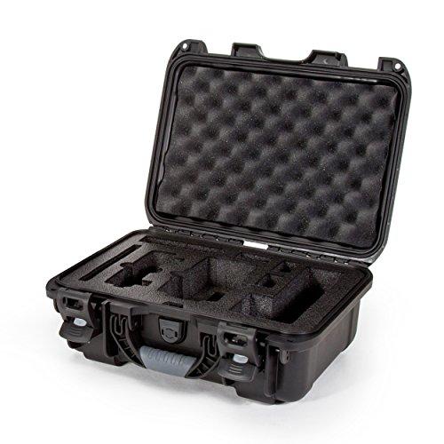 Nanuk Drone Waterproof Hard Case with Custom Foam Insert for DJI Mavic Air Fly More Combo - Black