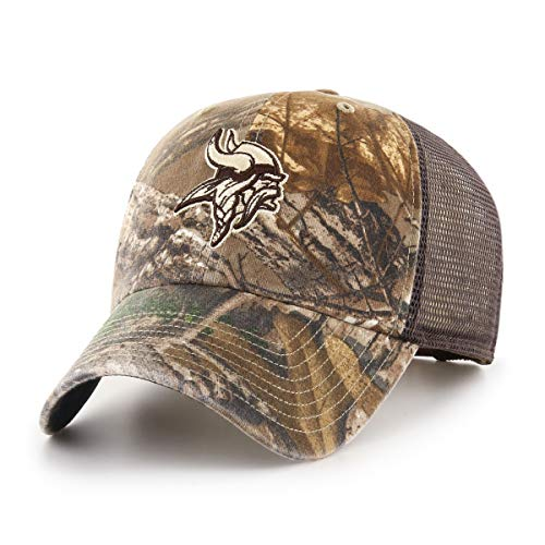 NFL Minnesota Vikings Men's Ledgewood Realtree OTS Challenger Adjustable Hat, Team Color, One Size