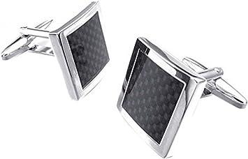 Hosaire Gemelos de Fibra de Carbono 16X16mm Gemelos Camisa Acero Inoxidable Goteo de Aceite Color Negro: Amazon.es: Juguetes y juegos
