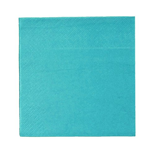 50-Pack Disposable Paper Napkins, 2-Ply, Teal Green, 13 X 13 Inches (Teal Beverage Napkin)