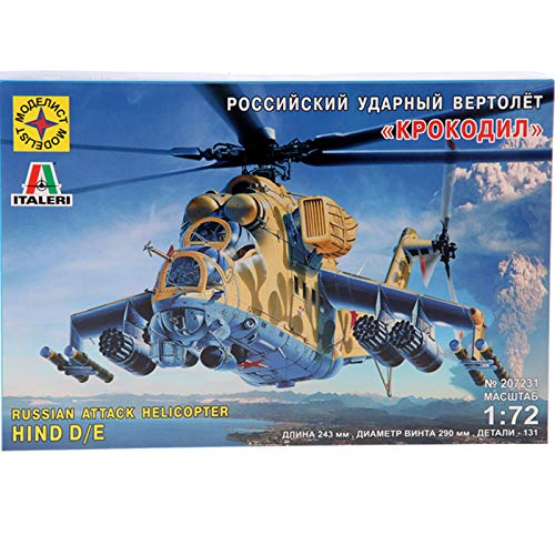 Mil Mi-24 Hind D/E Russian Attack Helicopter Gunship Model Kits Scale 1:72