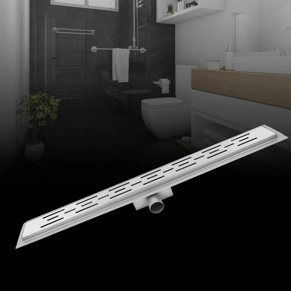Estink Desag/üe de Ducha de Acero Inoxidable para Revestimiento de Suelo de baldosas de 60 cm para Cocina de ba/ño Drenaje Lateral
