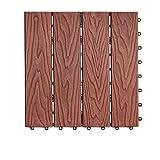 Flooring Outdoor Flooring, Plastic Wood DIY Garden Courtyard Anti-skid Floor Indoor Balcony Bathroom Anti-corrosion WPC Flooring size:30302cm