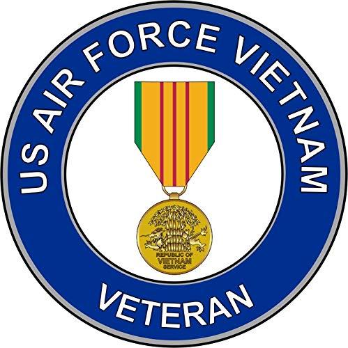 (Military Vet Shop U.S. Air Force Veteran Vietnam Medal Window Bumper Sticker Decal 3.8