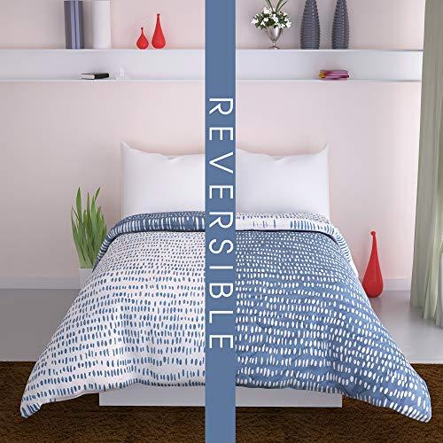 - DIVINE CASA All Season Reversible Microfiber Twin Comforter/Bed Blanket/Throws/Quilt - Plush Diamond Design - Machine Washable - Fluffy Lightweight Comforter - 51 X 91 inch Twin - Blue