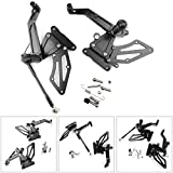 Areyourshop Adjustable CNC Rider Rearsets Footrest Pegs Black for G310R 2016-2018