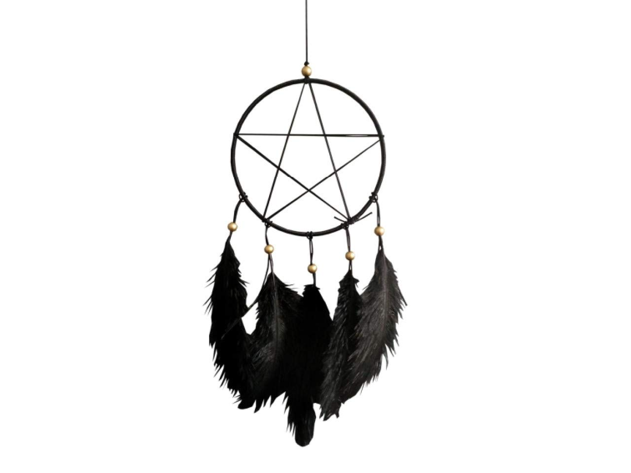 Black One Size Nemesis Now Pentagram Sentinel 15cm Dreamcatcher