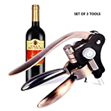 Home Servz Rabbit Wine Opener | Durable Red & White Corkscrew Bottle Opener With Ergonomic Lever For Safe Grip | Easy To Use Wine Accessory Great As A Wine Gift | Bonus Foil Cutter & Replaceable Drill