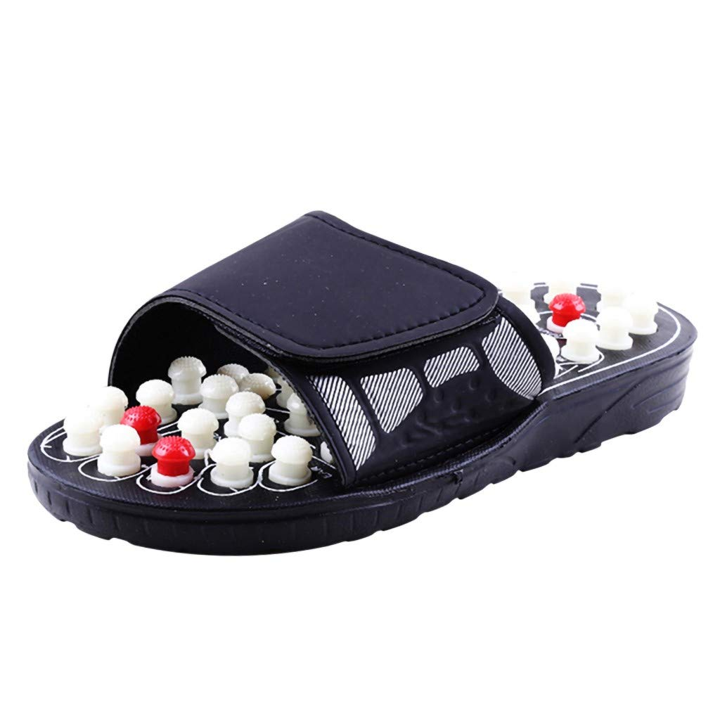 TIFENNY Massage Slippers Women Men Foot Massage Therapy Activation Care Adjustable Sandal Slippers Shoes White by TIFENNY_Shoes