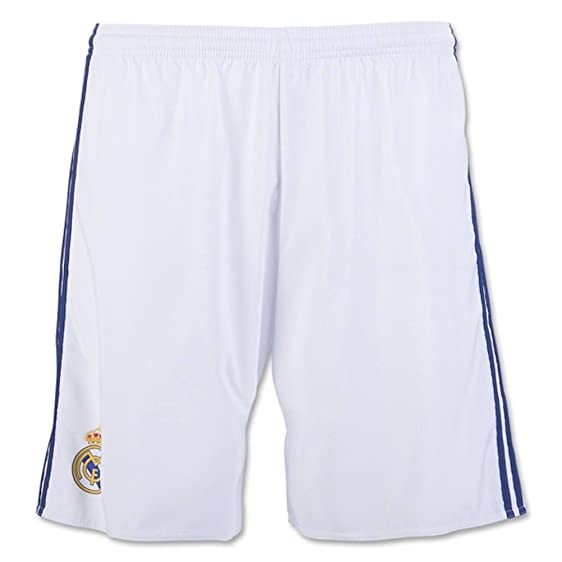 adidas Men's Real Madrid Home Soccer Shorts 2016/17 (Large) White