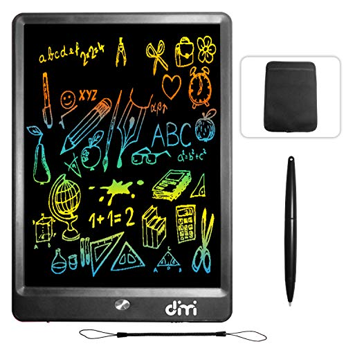 Dimi 10 inch LCD Writing Tablet,Colorful Screen Electronic Writing Board Doodle Pads Drawing Board Gifts for Kids + Erase Button Lock ()