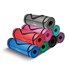 Sivan Health and Fitness 1/2-InchExtra Thick 71-Inch Long NBR Comfort Foam Yoga Mat for Exercise, Yoga and Pilates