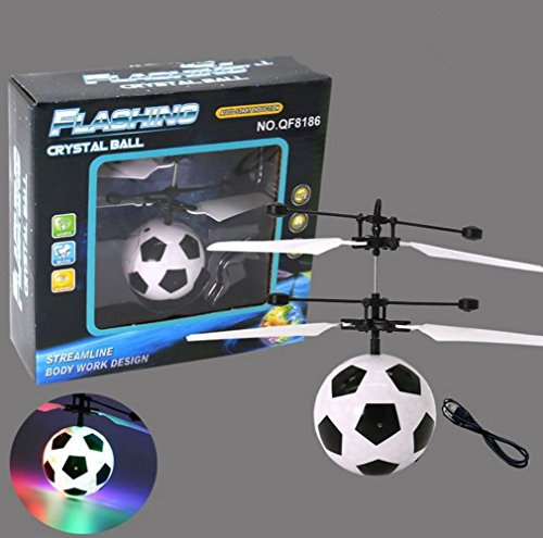 Remote Control Flying Ball  Led Lighting Flash Infrared Induction Fly Ball Helicopter Aircraft For Kids Children Frisbee Catapult Shooting Game Colorful Flyings Toys   Football