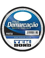 Fita Demarcação de solo Tekbond preta 48mmX15m