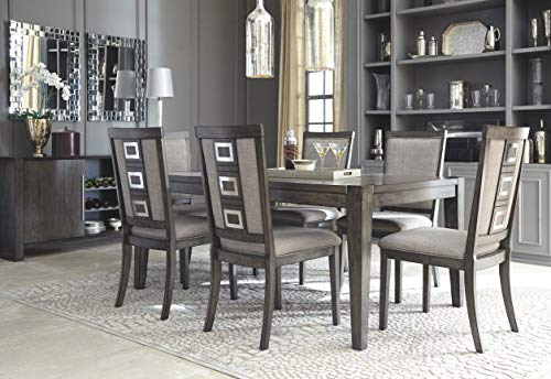 Ashley Furniture Signature Design - Chadoni Dining Side Chair - Set of 2 - Upholstered - Metal Accents - Smoky Gray Finish by Signature Design by Ashley (Image #7)